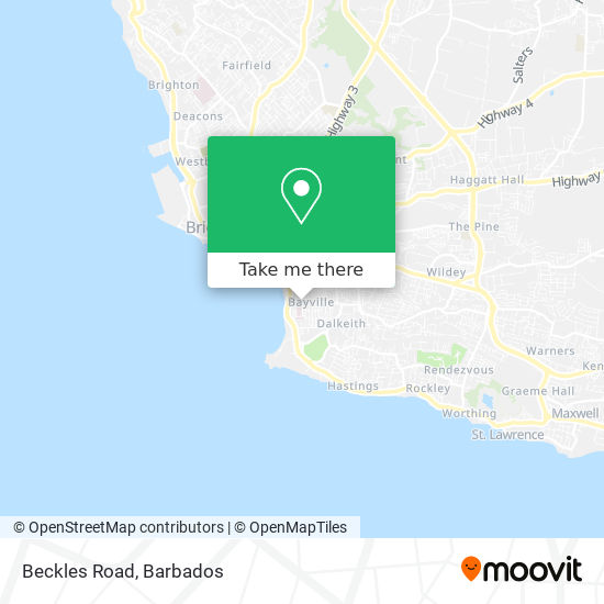 Beckles Road map