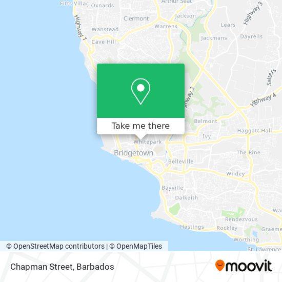 Chapman Street map