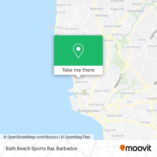 Bath Beach Sports Bar map
