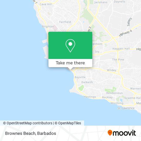 Brownes Beach map