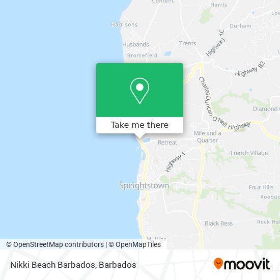 Nikki Beach Barbados map