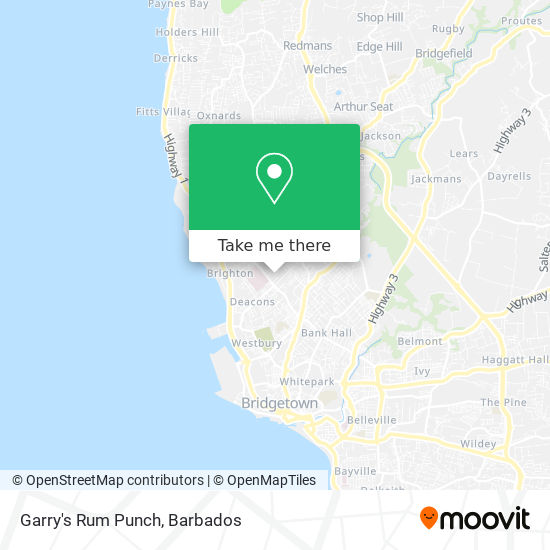 Garry's Rum Punch map