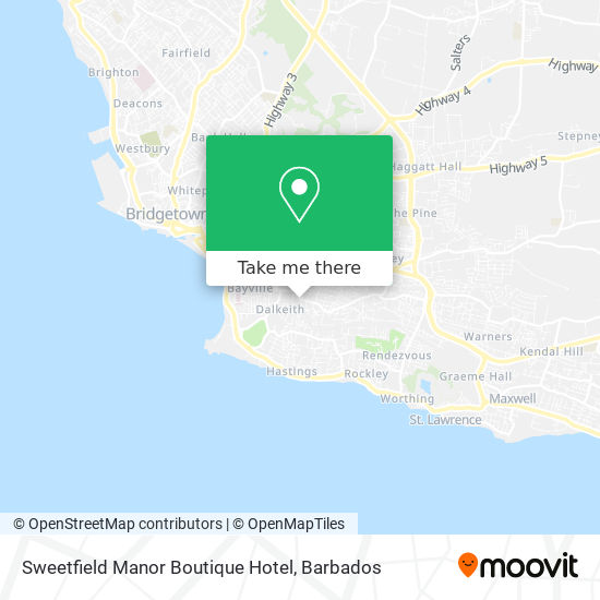 Sweetfield Manor Boutique Hotel map