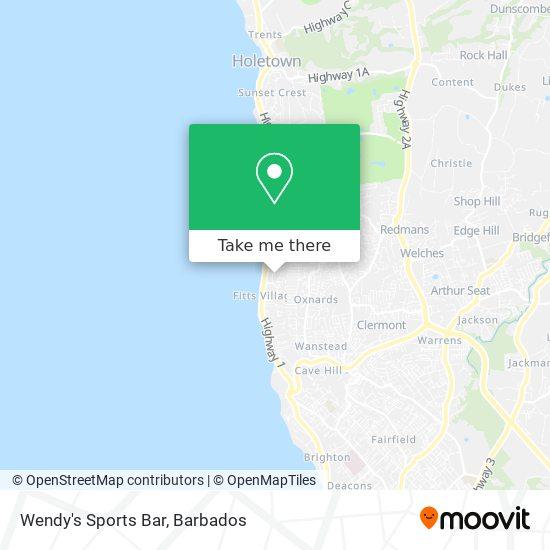 Wendy's Sports Bar map