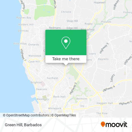 Green Hill map
