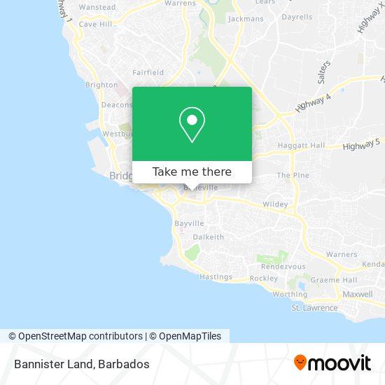 Bannister Land map
