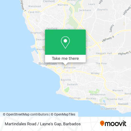 Martindales Road / Layne's Gap map