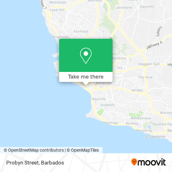 Probyn Street map
