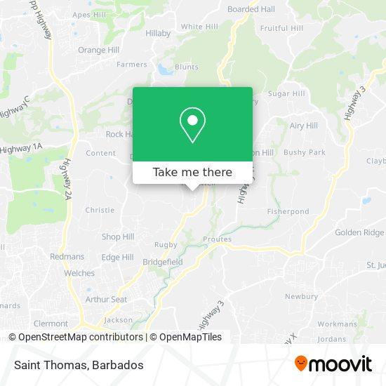 Saint Thomas map