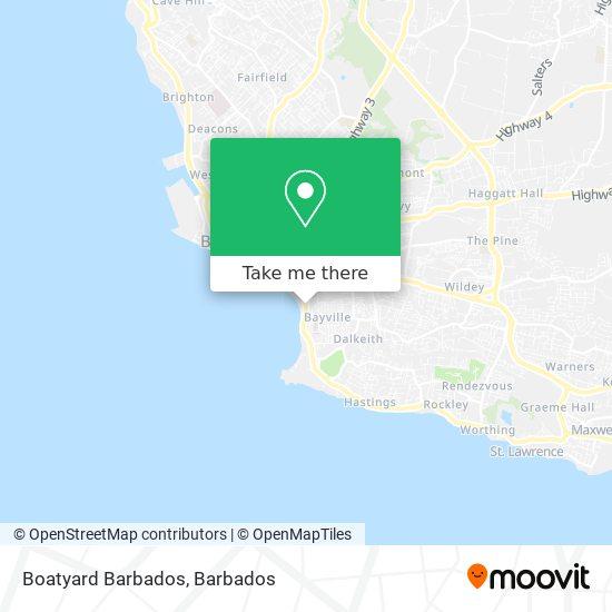 Boatyard Barbados map