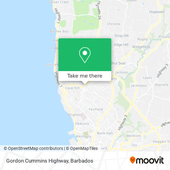 Gordon Cummins Highway map
