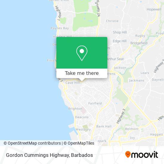 Gordon Cummings Highway map