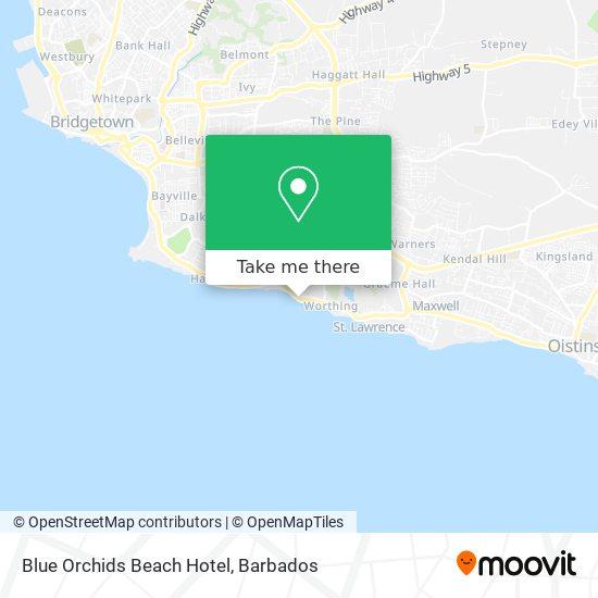 Blue Orchids Beach Hotel map