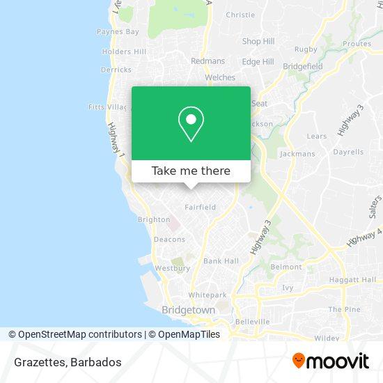 Grazettes map