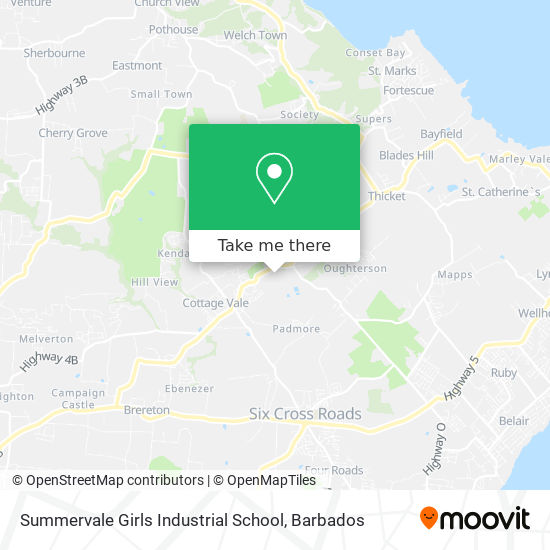 Summervale Girls Industrial School map