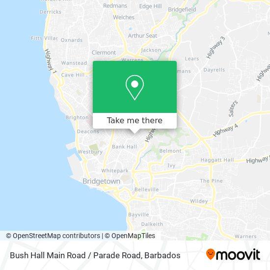 Bush Hall Main Road / Parade Road map