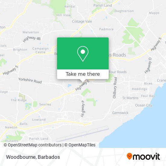 Woodbourne map
