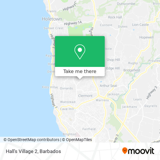 Hall's Village 2 map