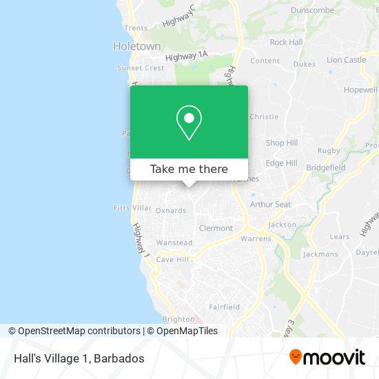 Hall's Village 1 map