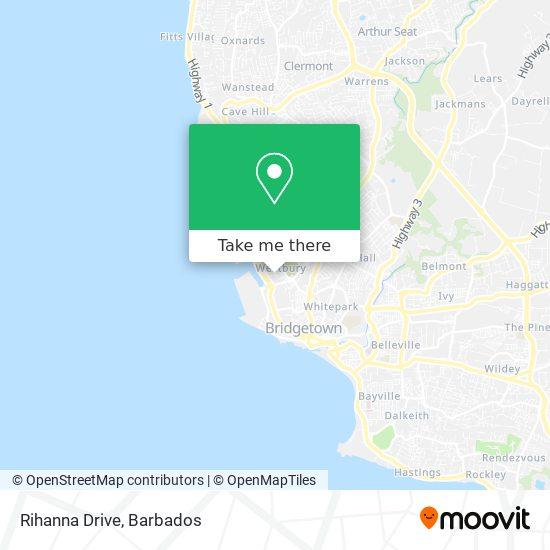 Rihanna Drive map