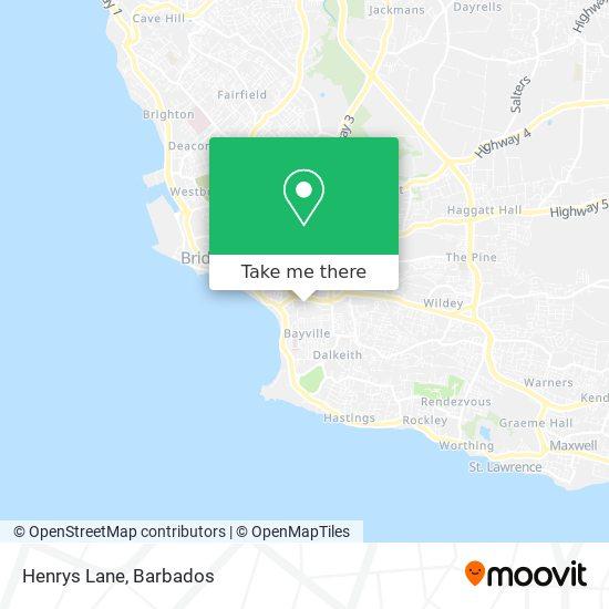 Henrys Lane map