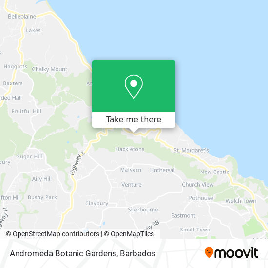 Andromeda Botanic Gardens map