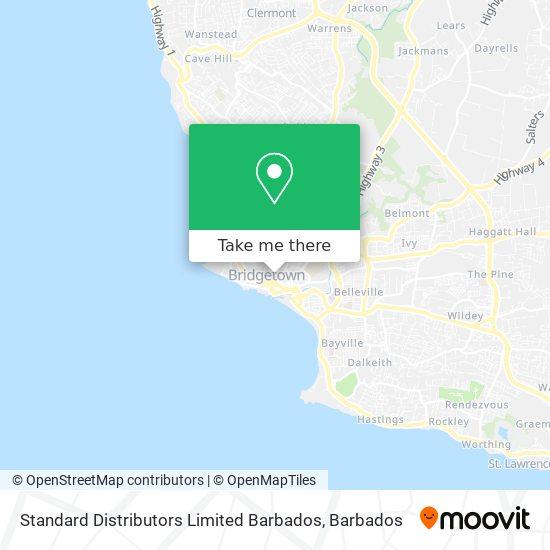 Standard Distributors Limited Barbados map