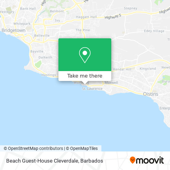 Beach Guest-House Cleverdale map
