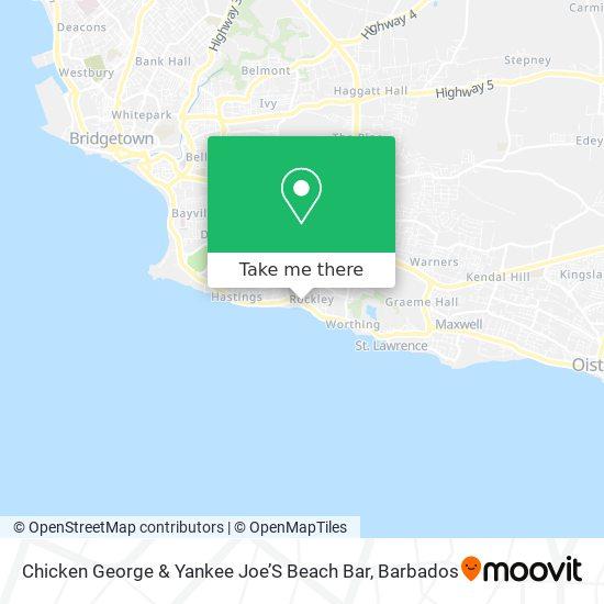Chicken George & Yankee Joe'S Beach Bar map