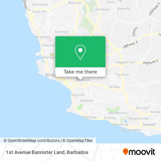 1st Avenue Bannister Land map