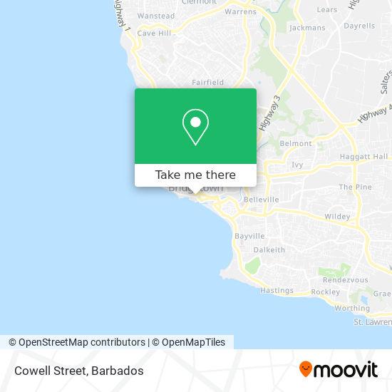 Cowell Street map