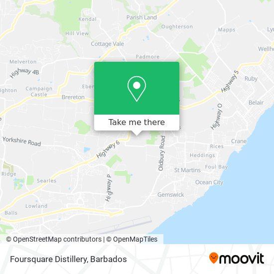 Foursquare Distillery map