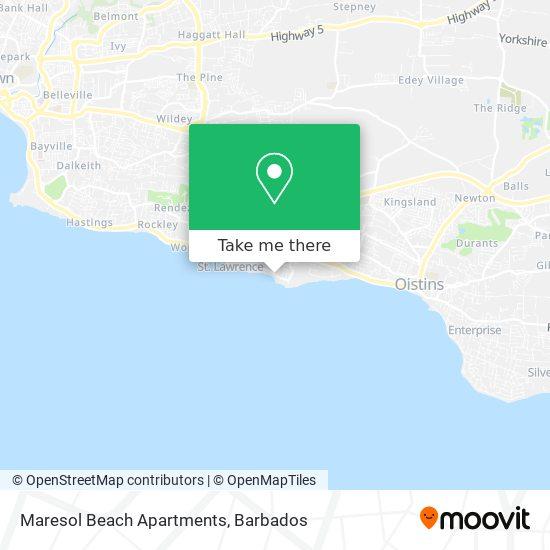 Maresol Beach Apartments map