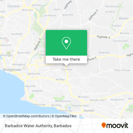 Barbados Water Authority map