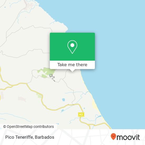 Pico Teneriffe map