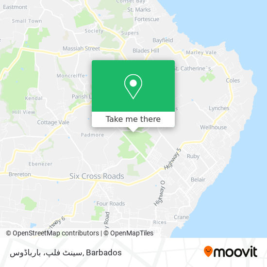 سینٹ فلپ، بارباڈوس map