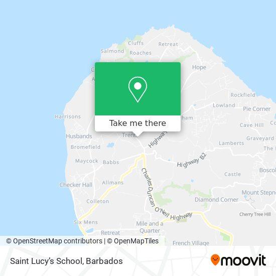 Saint Lucy's School map