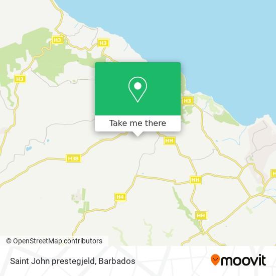 Saint John prestegjeld map