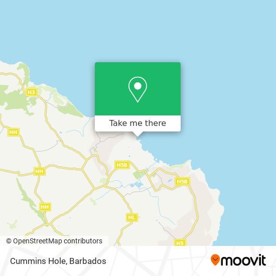 Cummins Hole map