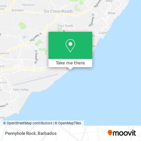 Pennyhole Rock map