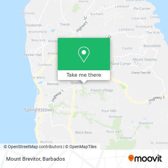 Mount Brevitor map