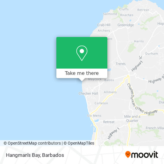 Hangman's Bay map