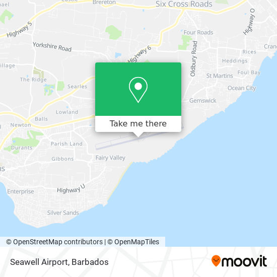 Seawell Airport map