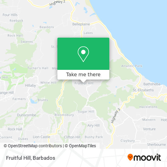 Fruitful Hill map
