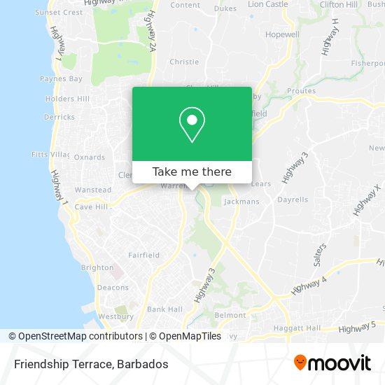 Friendship Terrace map