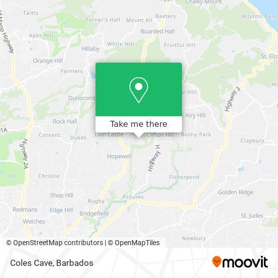 Coles Cave map