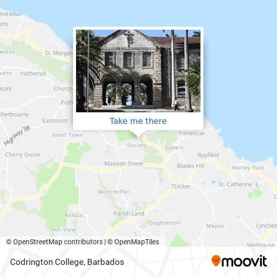 Codrington College map