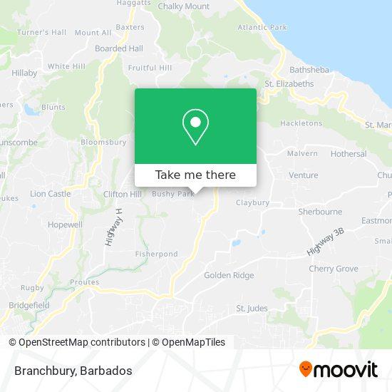Branchbury map