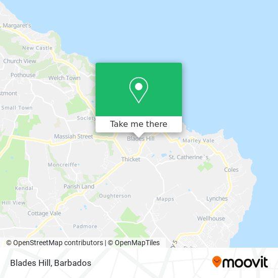 Blades Hill map