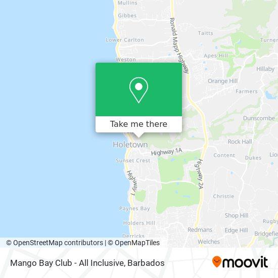 Mango Bay Club - All Inclusive map